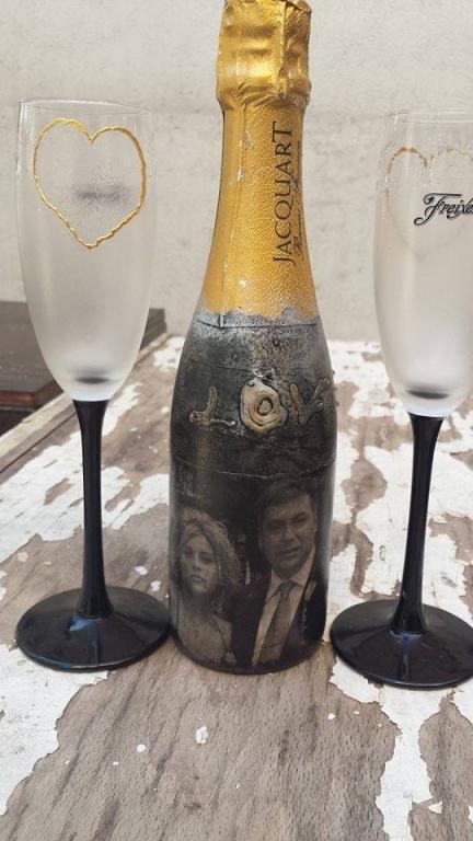Шампанско със снимка