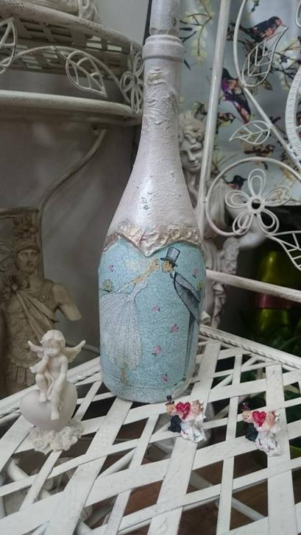 Сватбена бутилка Kiss the bride