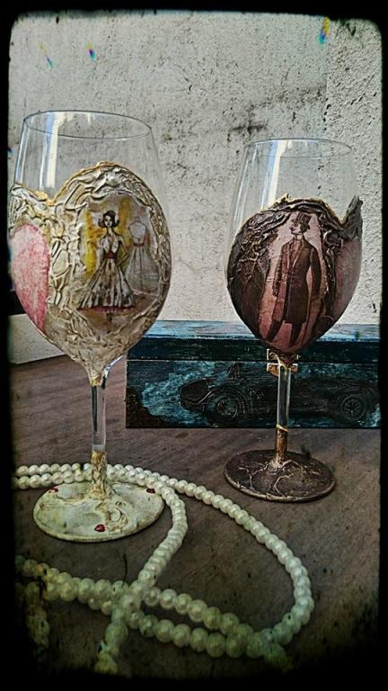 Романтични чаши за вино My LaDY