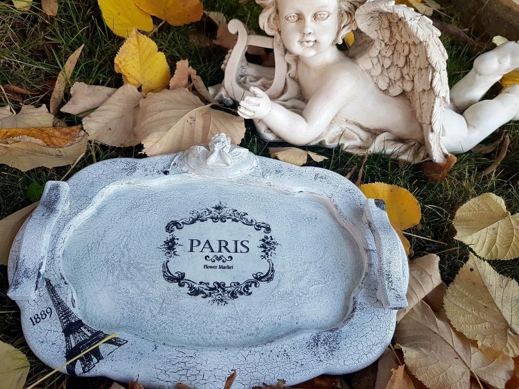 Paris  and angels поднос от дърво ръчна изработка