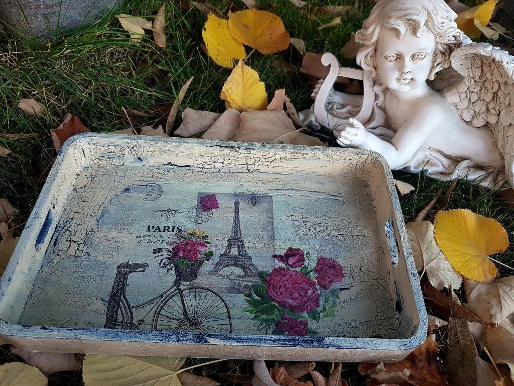 Поднос ръчно декориран Old Paris