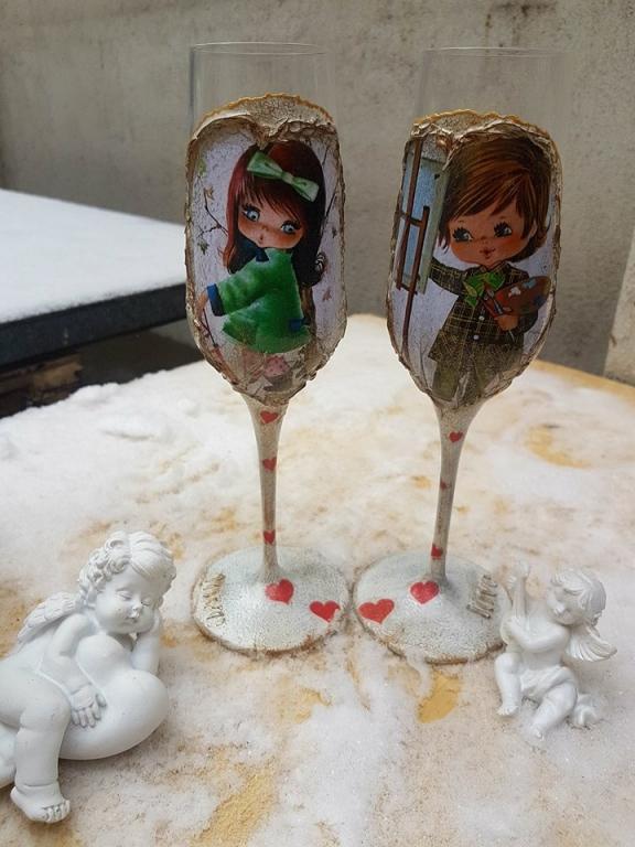 ЧУдесен любовен подарък чаши I love you